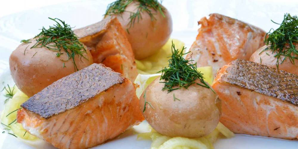 Salted Salmon with Parmesan and Potatoes